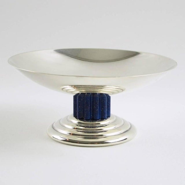 Puiforcat France Art Deco Silverplate Tazza Ring Holder Bowl - Image 2 of 6
