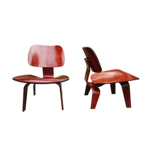 Mid-Century Modern Charles Eames LCW Plywood Lounge Chairs - A Pair