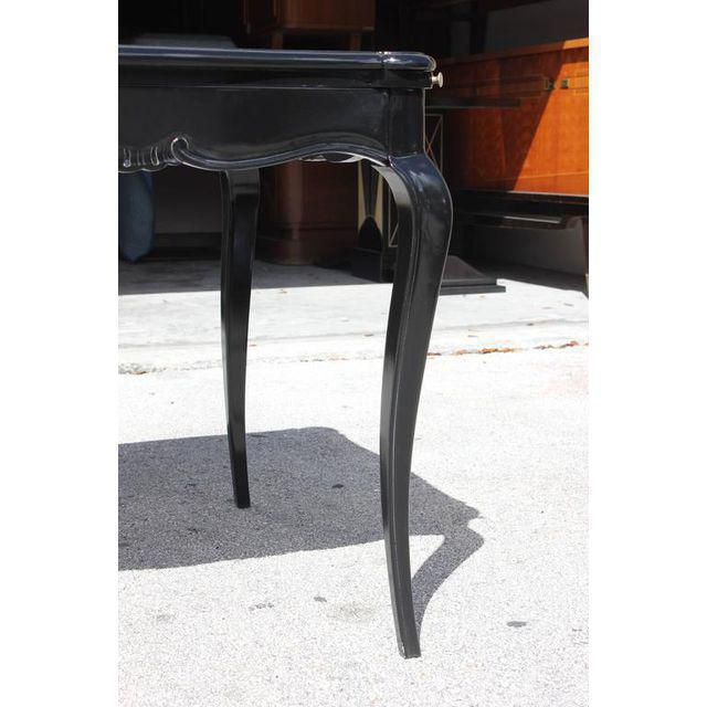 French Art Deco Macassar Ebony Game Table By Jules Leleu Style , circa 1940s - Image 5 of 10