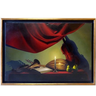 Nicolas Fasolino Realism Still Life Oil Painting on Canvas For Sale