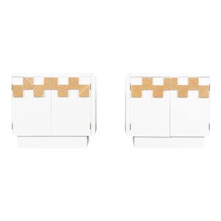Vintage Brutalist Mosaic Nightstands by Lane - a Pair For Sale