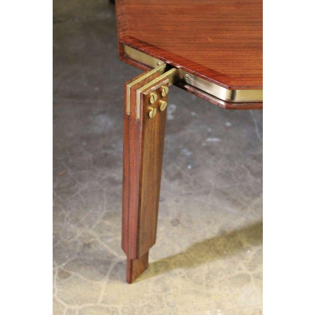 Rosewood and Brass Coffee Table - Image 7 of 10