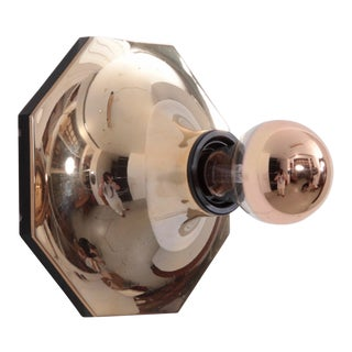 1 of 5 Rare Gold Wall Light or Flush Mount by Motoko Ishii for Staff, Germany