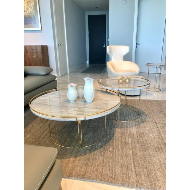 The Bijou Coffee Table in Marble and Matte Gold by Roche Bobois, 2018 For Sale - Image 10 of 13