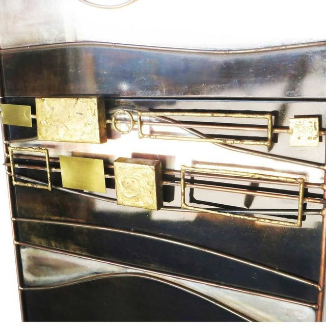 Large Curtis Jere Abstract Mix Metal Wall Art Sculpture - Image 7 of 7