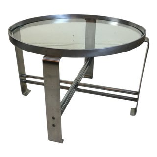 Wolfgang Hoffmann for Howell Round Chrome Coffee Table For Sale
