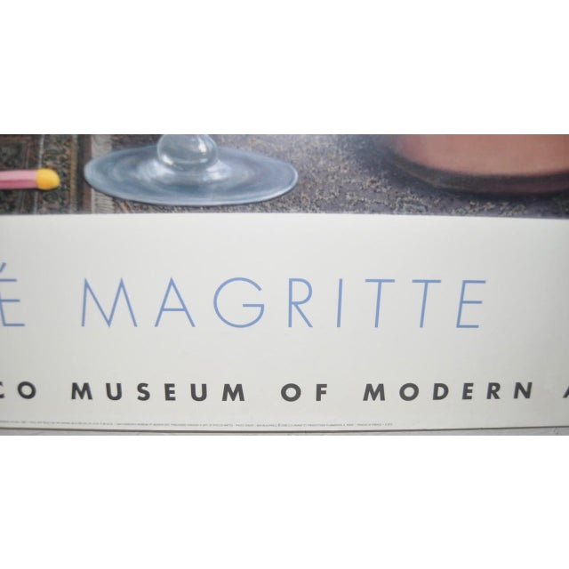 C.2000 Rene Magritte Exhibition Poster San Francisco Museum of Modern Art For Sale In San Francisco - Image 6 of 6