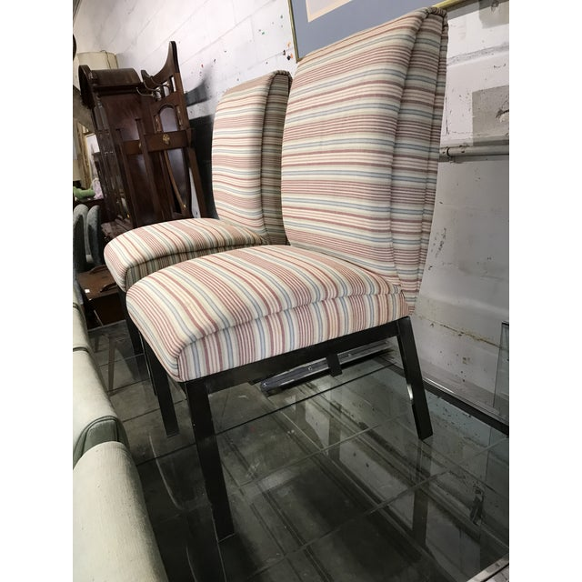 Contemporary 1980s Vintage Dia Upholstered Dining Chairs- Set of 6 For Sale - Image 3 of 12