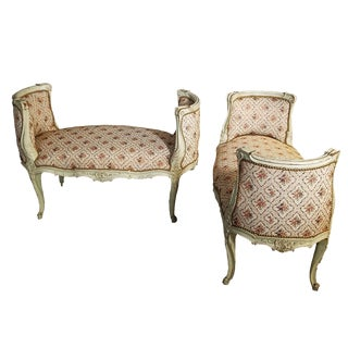 1890 French XVI Benches or Window Seats - a Pair For Sale