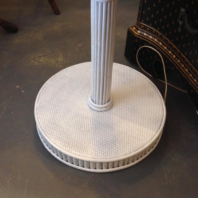 Early 20th Century 1930s Pencil Reed Floor Lamp Table For Sale - Image 5 of 13