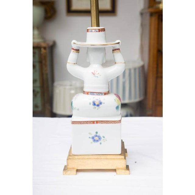 Chinese Warrior as a Table Lamp For Sale - Image 4 of 9