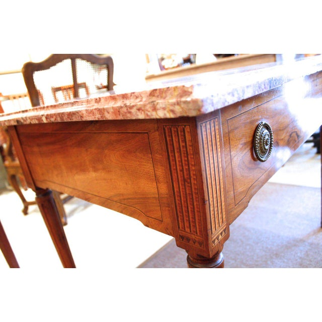 Late 18th Century 18th Century Italian Neoclassical Inlaid Marble Top Console For Sale - Image 5 of 10