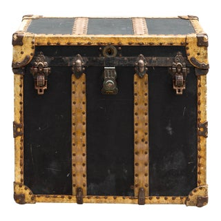 Late 1800s Crouch and Fritzgerald Steamer Trunk For Sale