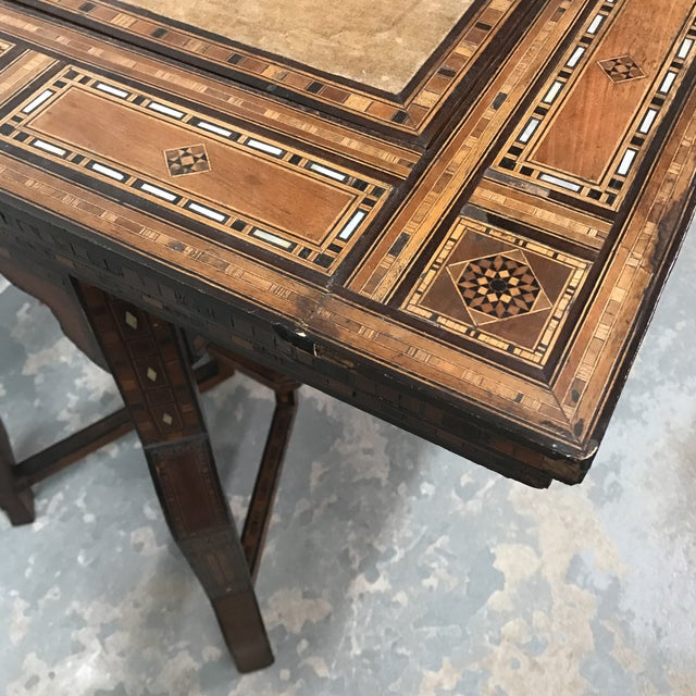 Antique Syrian Inlaid Game Table For Sale - Image 11 of 11