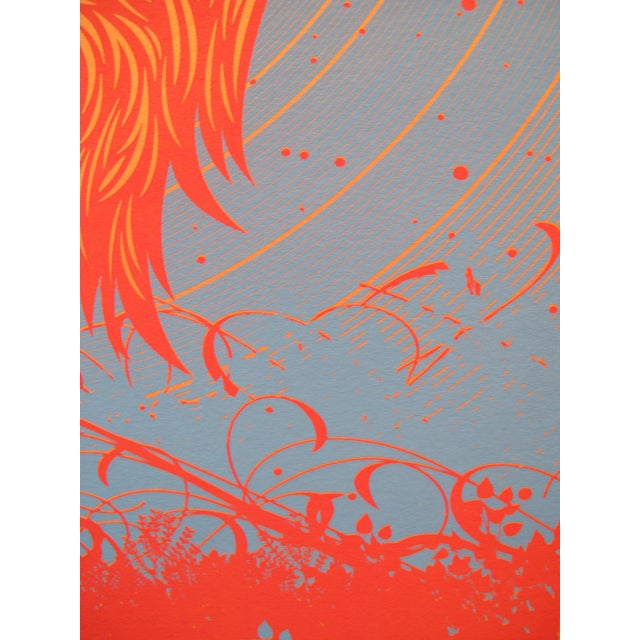 Contemporary 2012 American El Jefe Concert Poster, Edward Sharpe and the Magnetic Zeros For Sale - Image 3 of 3