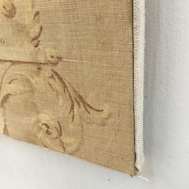 Tan 18th Century French Textile Printed Linen Panels - a Pair For Sale - Image 8 of 13