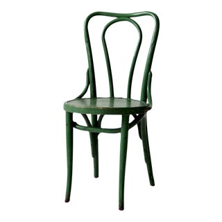 1930s Green Bentwood Chair