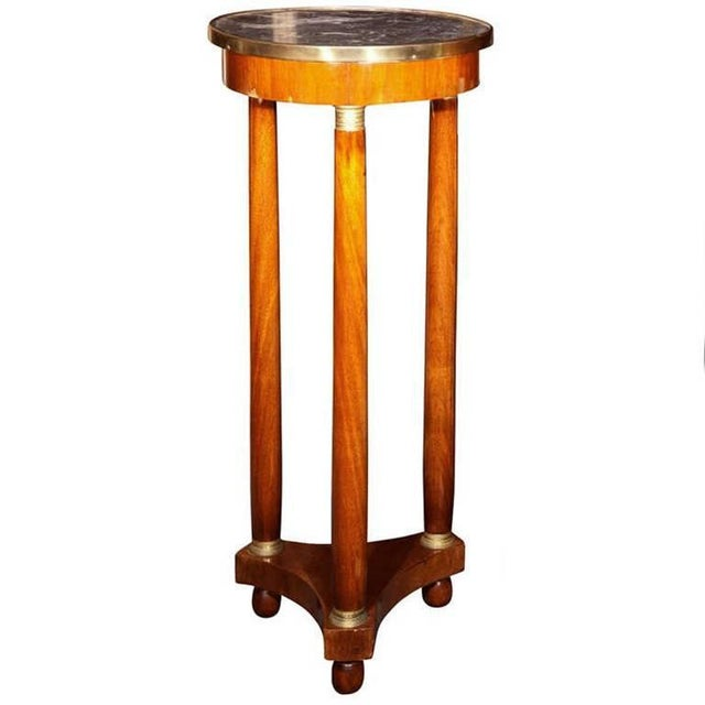 Gold 19th Century Marble-Top Pedestal For Sale - Image 8 of 8