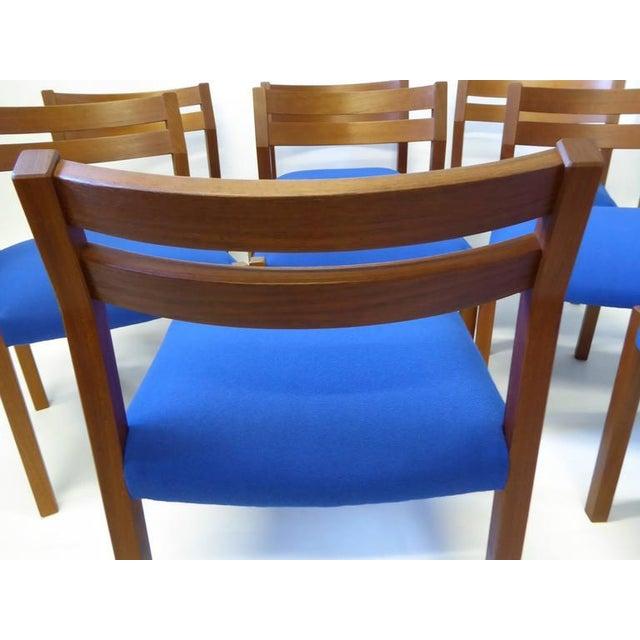 Eight 1974 Jørgen Henrik Moller Modern Teak Dining Chairs - Image 8 of 11