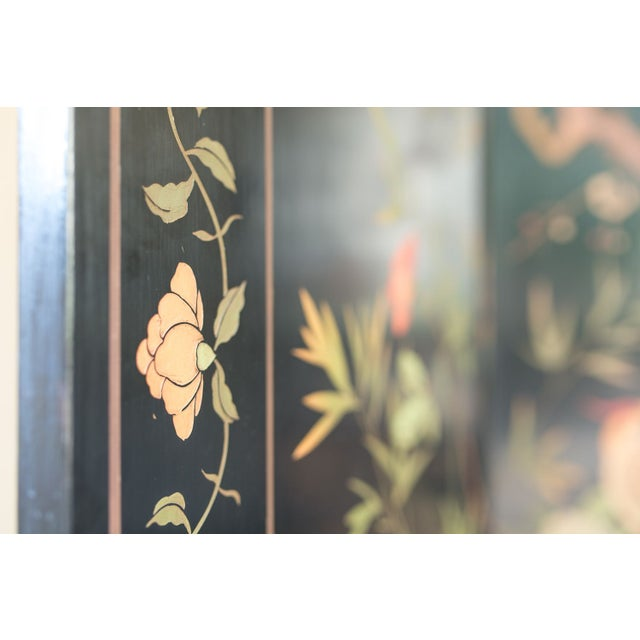 Large Lacquered Asian Screen - Image 6 of 8