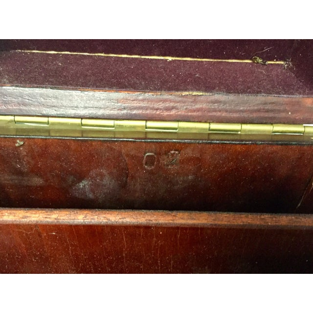 Early 20th Century Antique Mahogany Knife Document Boxes - A Pair For Sale - Image 9 of 11