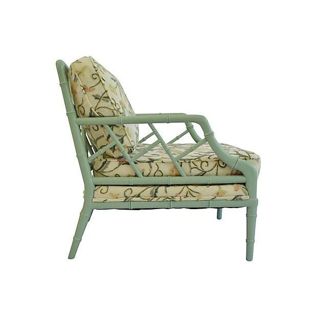 Crewel Faux-Bamboo Lounge Chairs - A Pair - Image 5 of 7
