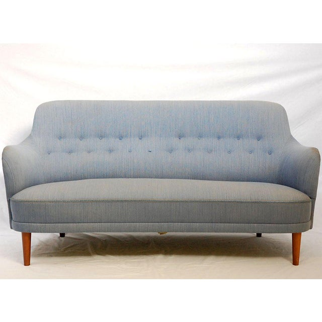 "Contemporary Carl Malmsten ""Samsas"" Sofa For Sale - Image 3 of 9"