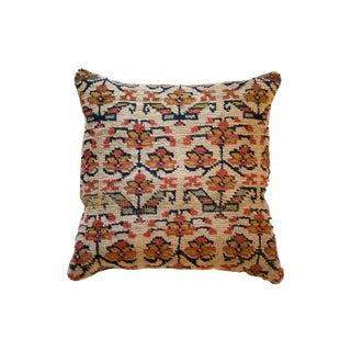 Reclaimed Vintage Rug Fragment Flower Pillow For Sale
