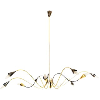 Sculptural Sputnik Italian Chandelier For Sale