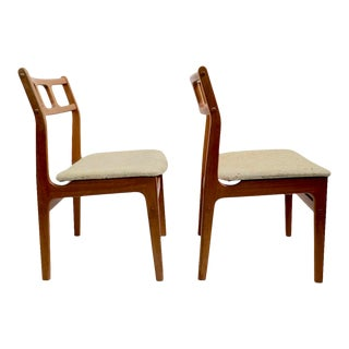 Pr. Danish Modern Teak Dining Chairs by D - Scan For Sale