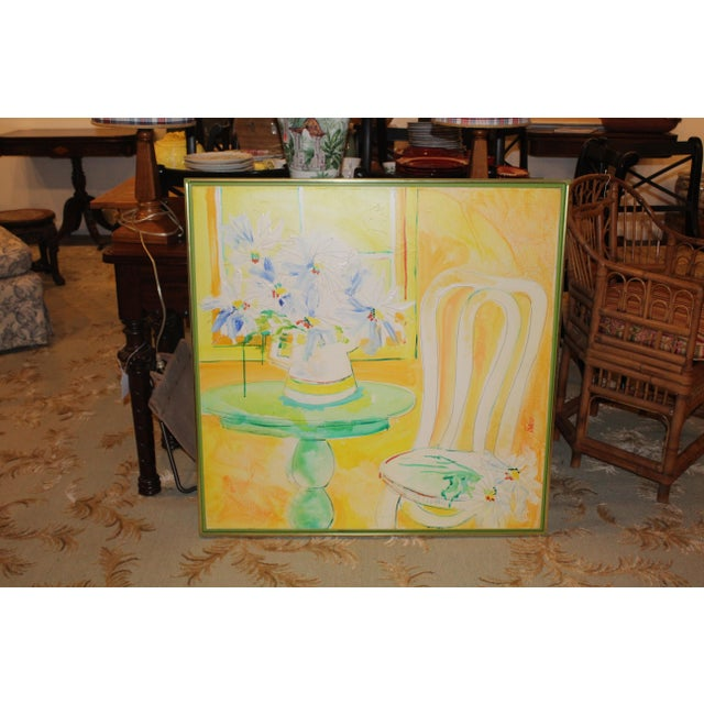 Vintage Mid-Century Yellow Still Life Painting For Sale - Image 10 of 12