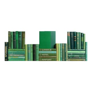 Midcentury Green Book Wall, S/50