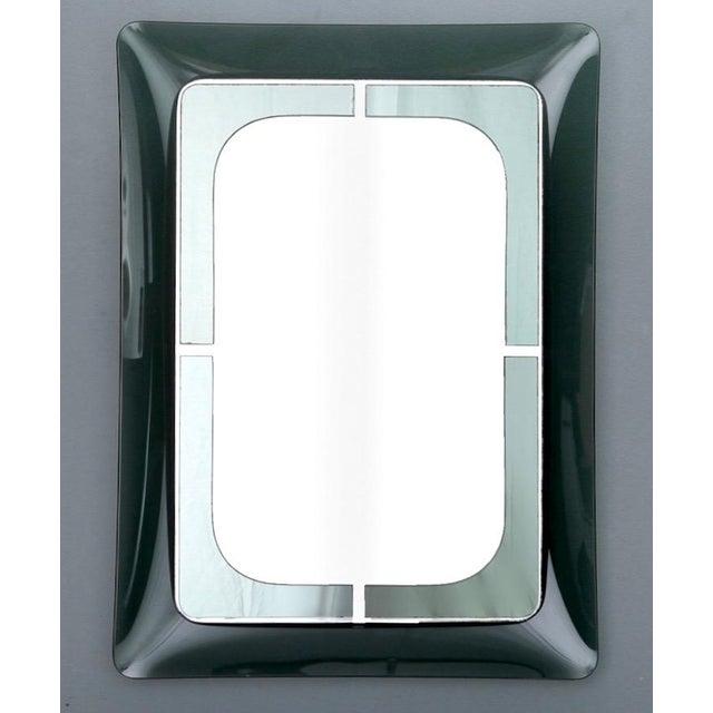 Italian Mid Century Fontana D'Arte Green Frame Wall Mirror - Image 2 of 6
