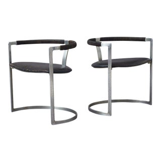 Preben Fabricius & Jorgen Kastholm Sculpture Chairs for BO-EX - a pair For Sale