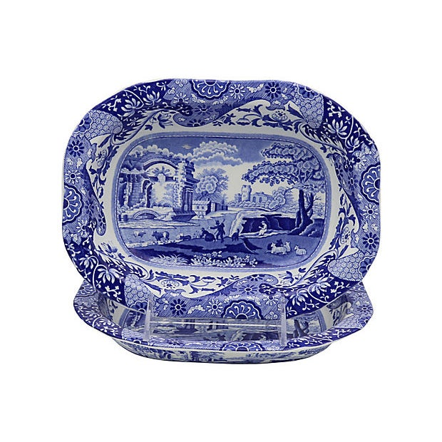 Spode Vintage Spode Italian Vegatable Dishes - a Pair For Sale - Image 4 of 4