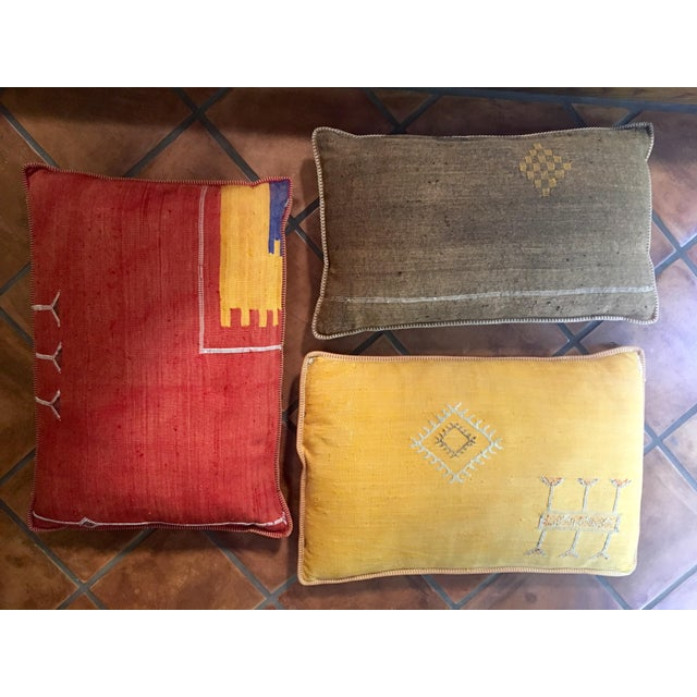 Moroccan Decorative Throw Pillows - Set of 3 - Image 2 of 5