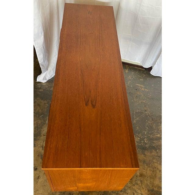 Wood 1960s Mid Century Modern Teak Credenza For Sale - Image 7 of 12