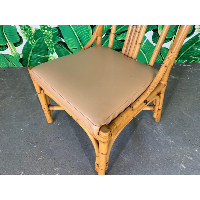 Wood Bentwood Rattan Dining Chairs - Set of 6 For Sale - Image 7 of 8