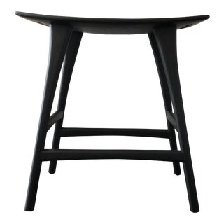 Ethnicraft Osso Black Oak Counter Stool For Sale
