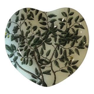 John Derian Decoupage Heart-Shaped Plate For Sale