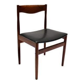 1960s Danish Modern Teak Side Chair For Sale