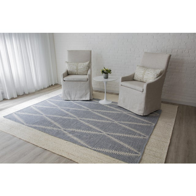 """Erin Gates by Momeni River Beacon Denim Indoor Outdoor Hand Woven Area Rug - 5' X 7'6"""" For Sale In Atlanta - Image 6 of 7"""