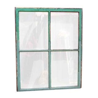 Vintage Glass & Wood Frame Window For Sale
