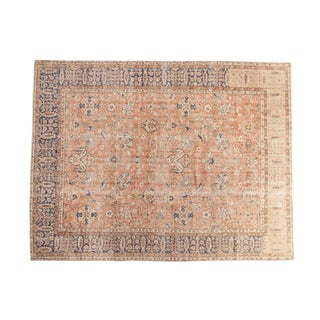 "Vintage Distressed Oushak Carpet - 7'10"" X 10'2"" For Sale"