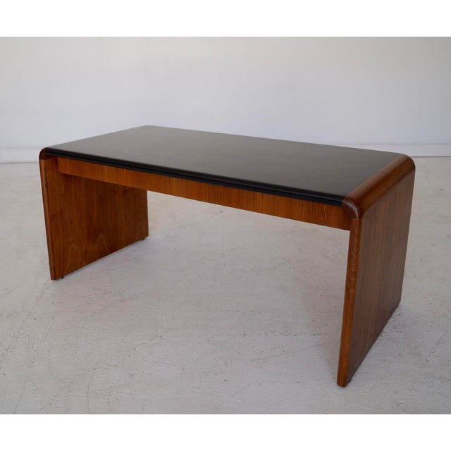 Mid-Century Teak Waterfall Edge Coffee Table - Image 6 of 11