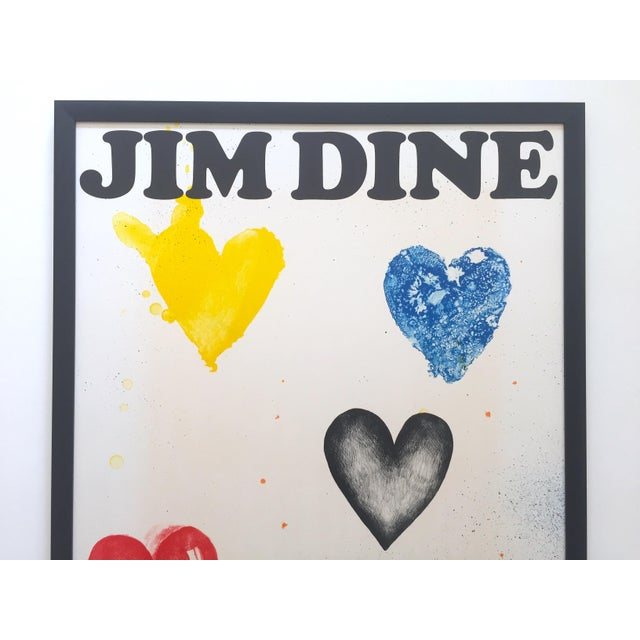 This Jim Dine rare vintage 1970 custom framed silkscreen print Whitney Museum collector's Pop Art exhibition poster is an...