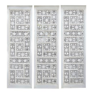 Indonesian Carved Wooden Panels Screen/Room Dividers - Set of 3 For Sale