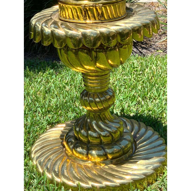 Large Turkish Spiral Brass Brazier For Sale - Image 10 of 12