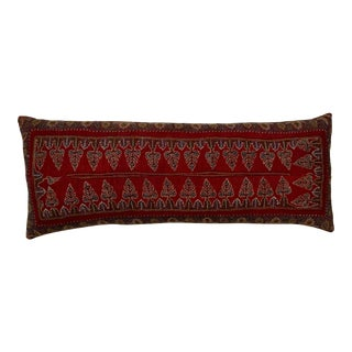 Antique Hand Embroidered Suzani Throw Pillow For Sale