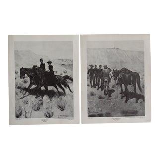 1980s Frederick Remington Prints, Set of 2 For Sale